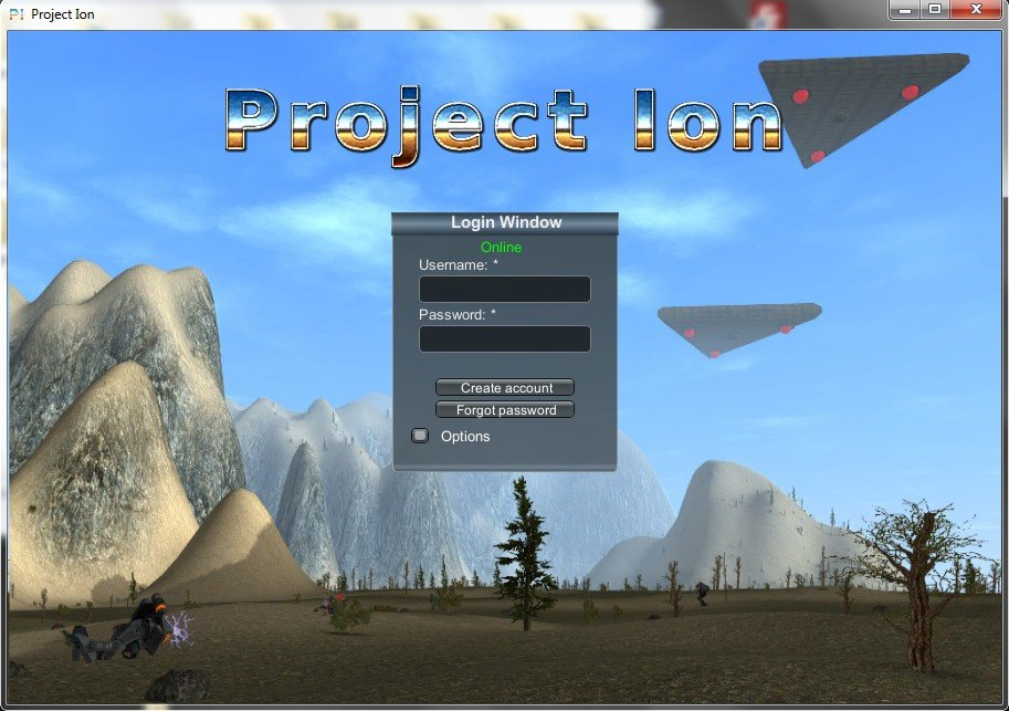 Projct Ion game client window